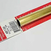 K&S Engineering 8139 All Scale - 1/2 inch OD Round Brass Tube 0.014inch Thick x 12inch Long