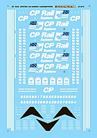 Microscale 87-974 HO Railroad Decal Set - Canadian Pacific AC4400CW Diesels (1995 - 1997)-Diesel - AC4400CW - Two Flags Scheme