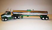 Trucks n Stuff TNS070 HO Kenworth T680 Day-Cab Tractor with Food-Grade Trailer - Assembled -- Milkway (red,white,blue.chrome)