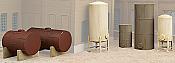 Walthers N Scale Cornerstone Storage Tanks