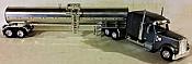 Trucks n Stuff 60139 HO Freightliner Coronado Mid-Roof Tractor w/Sleeper w/Food-Grade Tank Trailer - Slate Gary Cab