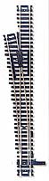 Atlas Model Railroad Code 100 Custom Line Mark IV Turnout - Nickel-Silver #6 Left, Black Ties