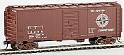 WalthersMainline HO 1777 40 Ft AAR 1948 Boxcar - Detroit, Toledo & Ironton 14307