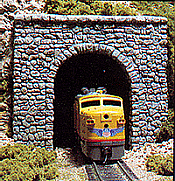 Woodland Scenics 1255-HO Tunnel Portal-Random Stone - Single Track