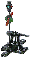 "Caboose Industries Operating Ground Throw,High Level Switch Stand .190"" Travel Sprung w/Lantern & Targets"