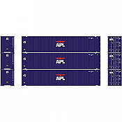 Athearn 27034 - HO 45ft Container - APL (3/pkg)