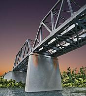 Walthers 4552 HO Cornerstone Double-Track Railroad Bridge Concrete Pier 2-Pack