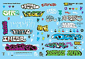 Microscale Decals -HO  Graffiti - Limited Edition Graffiti Sheet Volume 3