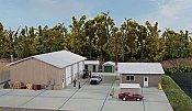 Walthers Cornerstone 4122 - HO Vehicle Maintenance Facility - Kit - Set of five buildings