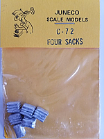 Juneco Scale Models C-72 Stack of 4 Sacks (6/pkg)