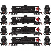Athearn RND2149 - HO Single-Dome Tank Car - CP Rail (4pk)