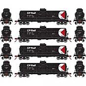 Athearn RND2149 - HO Single-Dome Tank Car - CP Rail (4pk)