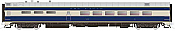 Rapido Trains 124034 HO Scale Pullman-Standard Lightweight Diner-Lounge Missouri Pacific (Eagle) #841 Pre Order