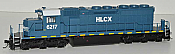 Bowser 24500 HO GMD SD40-2 DCC & Sound ESU - HLCX Lease (EX QNSL) #6218  - Just Arrived