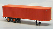 Sylvan Scale Models 005 HO Scale - 1950-54 34Ft Tandem Fruehauf Trailer - Unpainted and Resin Cast Kit