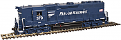 Atlas Model Railroad Co. 10002415 HO Scale EMD GP38 Low Nose w/Sound & DCC - Master(R) Gold -- Pan Am (Blue/White) #382 150-10002415