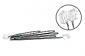 """Woodland Scenics 5760 All Scale Connecting Cables - Just Plug Lighting System 48"""" 121.9cm pkg(2)"""