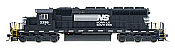 Intermountain Railway Diesel EMD SD40-2 DCC & Sound Norfolk Southern #3381