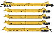 WalthersMainline 55636 HO - Thrall 5-Unit Rebuilt 40 Ft Well Car - Ready to Run - Santa Fe Leasing SFLC #1010 A-E