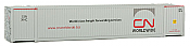 Walthers 8518 HO SceneMaster 53 FT Singamas Corrugated-Side Container - Ready to Run - Canadian National CN