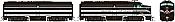 Rapido 37024 - HO Alco FA-1 & FB-1 Set - DCC Ready - Lehigh & New England #707, 751