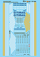 Microscale Decals 87-1464 HO CitiRail CREX ES44AC Capital Finance CEFX AC4400CW SD70ACe