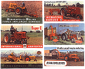 JL Innovative Design 376 HO Billboard Signs - Vintage Tractors 1940s-50s pkg(6)