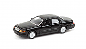 Walthers SceneMaster 12022 HO - Ford Crown Victoria Police Interceptor - Unmarked Unit (Black)