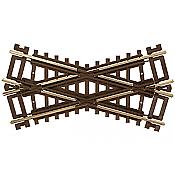 Atlas Model Railroad 574 HO Code 83 Crossing - Nickel Silver w/Brown Ties - 30 Degrees