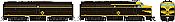 Rapido 37016 - HO Alco FA-1 & FB-1 Set - DCC Ready - Erie #725C, 725D