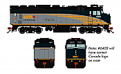 Rapido Trains 582507 - N VIA Rebuilt F40PH-2D - DCC/Sound - VIA Rail Canada #6403