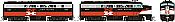 Rapido 37032 - HO Alco FA-1 & FB-1 Set - DCC Ready - New Haven (McGinnis Scheme) #0421, 0454