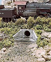 Woodland Scenics 1162 - N Scale Unpainted Hydrocal Castings - Concrete Culverts (2 pkg)