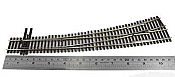 Peco Code 83 SL 8377 Streamline #7 Insulfrog Turnout - Nickel Silver Left Hand Curved HO Scale Track