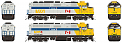 Rapido 80553 HO F40PH 2D VIA Rail As delivered 6456 ESU LokSound DCC & Sound- Taking Orders Now