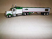 Trucks n Stuff TNS084 HO Kenworth W900L Sleeper-Cab Tractor w/Grain Trailer - Cargill-Nutrena Feeds