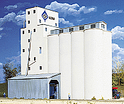 Walther's N Scale Cornerstone Concrete Grain Elevator -ADM