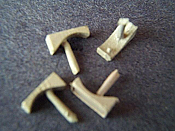 Miniatures By Eric N7 HO Scale parts - Brass RS11, RS18 Number boards