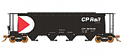 Rapido 127015 HO 3800 Cubic Feet Covered Hopper - CP Rail - Small Multimark (repaint)  (6pk) - Pre-order