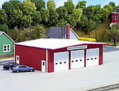 Pikestuff 192 HO Fire Station - Red