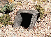 Woodland Scenics 1165 - N Scale Unpainted Hydrocal Castings - Timber Culverts (2 pkg)