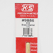 K&S Engineering 9886 All Scale - 12inch Long Brass Channel - 0.014inch Thick x (3/16 x 1/8 inch Leg Lengths)