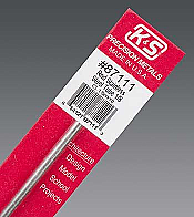 K&S Engineering 87111 All Scale - 1/8 inch OD Round Stainless Steel Tube - 22 Gauge x 12inch Long