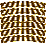 Atlas 535 HO Code 83 Curved Snap Track - 22 Inch Radius pkg(6)