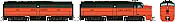 Rapido 37028 - HO Alco FA-1 & FB-1 Set - DCC Ready - New Haven (Orange Delivery) #0416, 0457