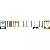 Athearn RTR 72789 - HO 53ft Wabash Plate Trailer - JB Hunt #36743