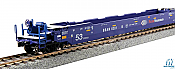Kato 309055 HO Scale - Gunderson Maxi IV 3-Unit Well Car - Ready to Run - Pacer Stacktrain BRAN 6020 (blue, white, red)