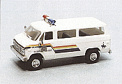 Trident Miniatures Emergency 90296 HO Police Vehicles - Chevrolet Personnel Van - Royal Mounted Police