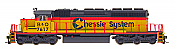 Intermountain Railway 49347S-04 HO EMD SD40-2 w/DCC  & Sound ESU  - Chessie System - B & O #7617