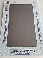 Microscale TF-27 - Trim Film - Stainless Steel 4½ in x 7½ inch sheet - Waterslide Decal